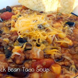Black Bean Taco Soup {Freezer Meal}.