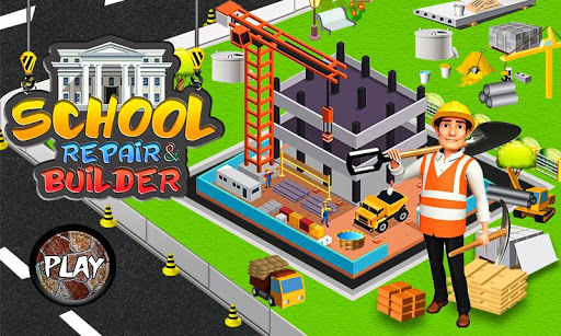 School Building Construction Site: Builder Game modavailable screenshots 1