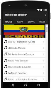 Radios del Ecuador screenshot 0