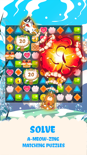 Fancy Cats - Cute cats dress up and match 3 puzzle 3.3.6 screenshots 5