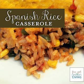 Easy Spanish Rice Bake.