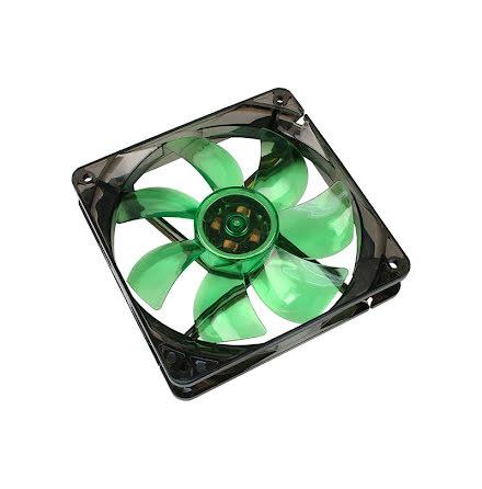 Cooltek vifte m/grønn LED, Silent Fan 120, 120x25