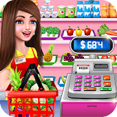 Supermarket Shopping Cash Register Cashier Games