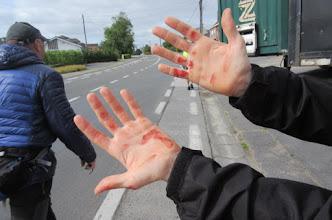 Photo: van waar komt dit bloed vandaan??