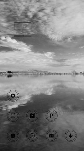 android Dark Black Pure Lake Theme Screenshot 1