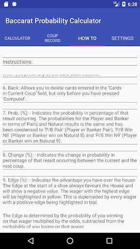 Baccarat Probability Calculator (Full) 36 screenshots 5