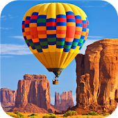 Hot air balloons.LiveWallpaper