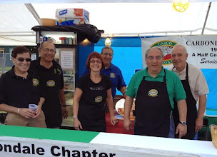 Photo: The Carbondale chapter of UNICO recently participated in the cities Pioneer days with their annual pizza stand. Pictured left to right our Richie Ruggiero ,Nunzio Gatto , Kitty Golin ,Joe Masco ,Chip Calabro and John Lemoncelli
