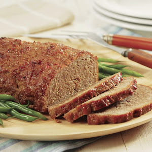 Peach-Glazed Pork Loaf