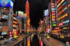 Rues nocturnes Osaka