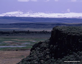 Photo: Steens Mountain in early spring from Buena Vista overlook at Malheur Refuge