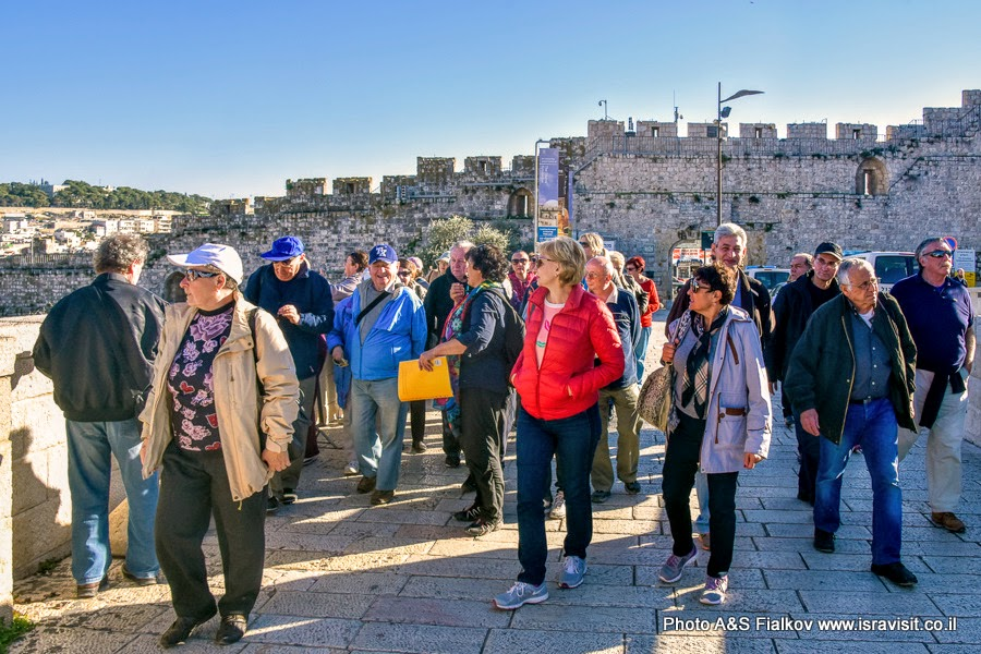 Возле Храмовой горы. Экскурсия в старом городе Иерусалима.