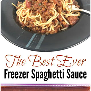 Best Ever Freezer Meal Spaghetti Sauce.