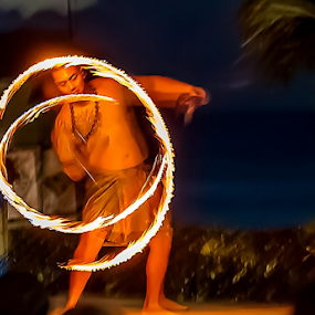 Fire Twirl by Ray Shiu - People Street & Candids ( guam, show, circle, chamorro, dance, twirl, fire, flame,  )