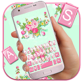 Pink Flower Garden Keyboard Theme Android APK Download Free By Pretty Emoji Keyboard Theme Design
