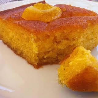 Traditional Greek Yogurt Cake with Orange Syrup (Portokalopita).