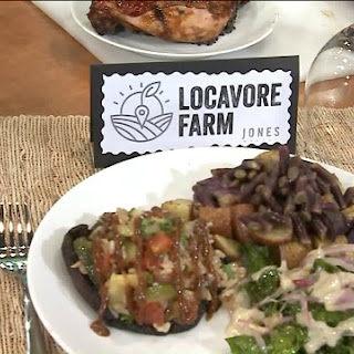 Locavore Farm's fire-roasted portobello with rice and vegetable pilaf