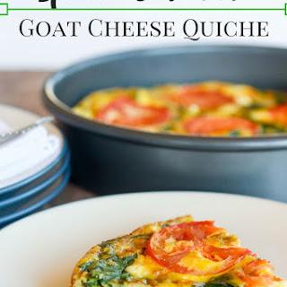 Spinach & Tomato Goat Cheese Quiche