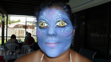 Photo: Incredible Avatar Face Painting by Paola Gallardo from http://www.BestPartyPlanner.net