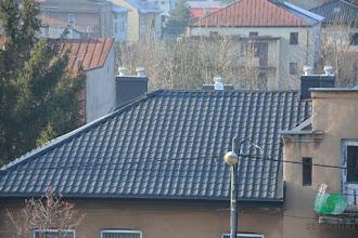 Photo: Remont dachu domu socjalnego w Słomnikach
