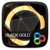 Black Gold Go Launcher Theme