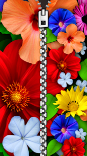 Flower Zipper Lock Screen - náhled