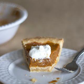 Vegan Pumpkin Pie  (dairy free, egg free and soy free)