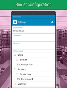 Forms binders - Database - náhled