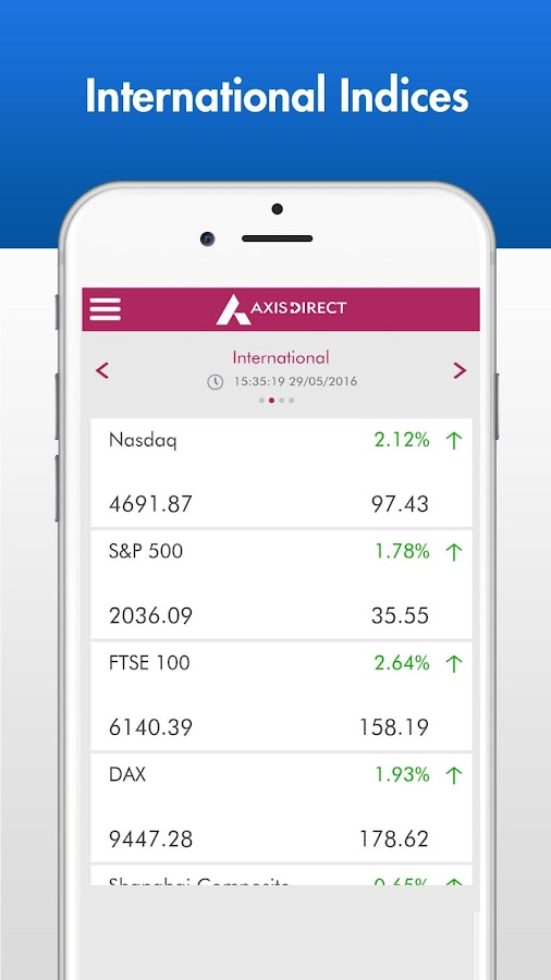 Screenshots of AxisDirect Mobile for Android