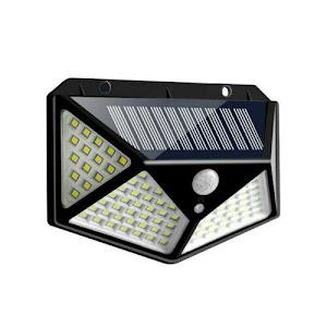 Lampa 100 LED cu panou solar, senzor de miscare