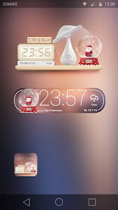 Christmas theme clock widge screenshot 1
