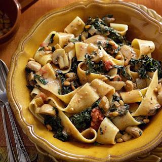 Swiss Chard and Mushroom Pasta.