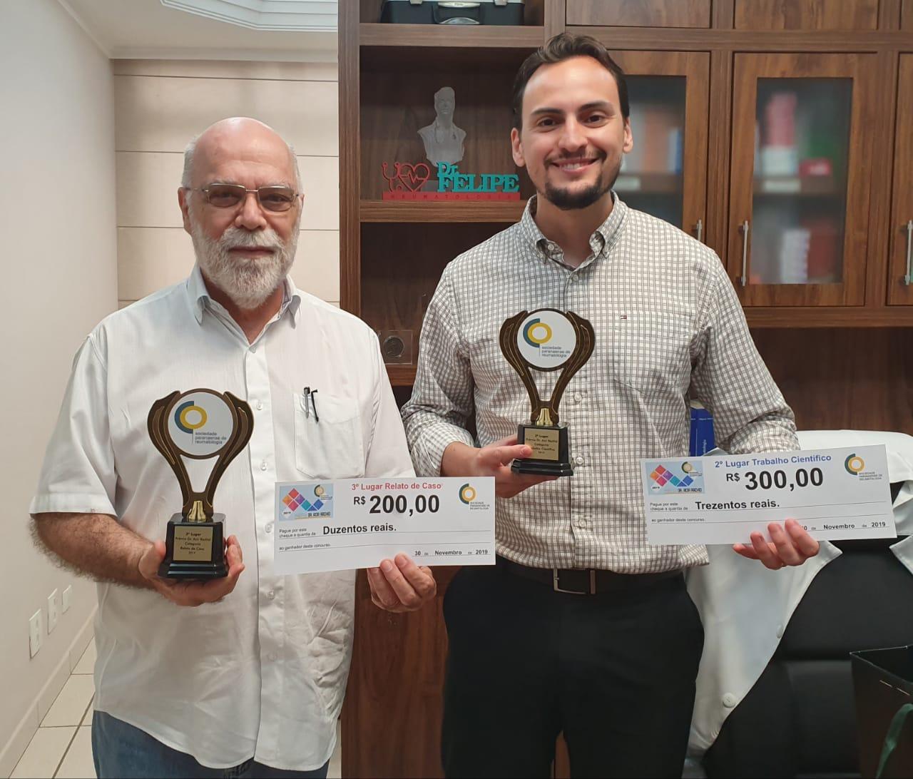 Professor e doutorando da UEM ganham Prêmio de Reumatologia