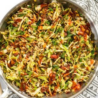 Southwest Beef and Cabbage Stir Fry.