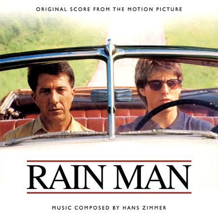 在巴瑞·李文森執導的《雨人》中,達斯汀·霍夫曼演出自閉症者的劇照。