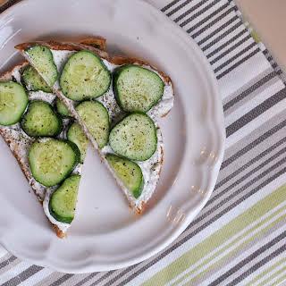 Bright and Refreshing Cream Cheese Cucumber Sandwiches.