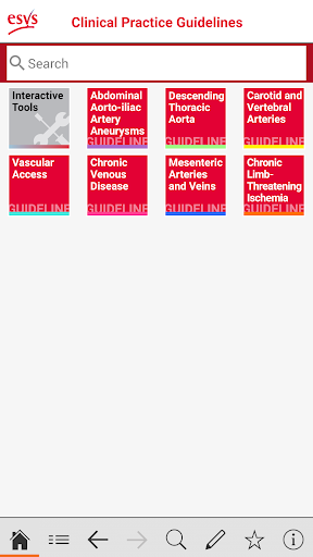 esvs clinical guidelines screenshot 1