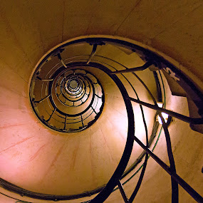 Spiral by Kwoh LK - Buildings & Architecture Other Interior ( paris, spiral staircase, arc de triomphe, france )