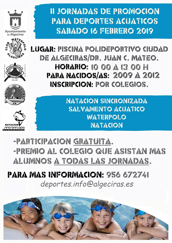 El sábado una nueva edición de las Jornadas de promoción para deportes acuáticos