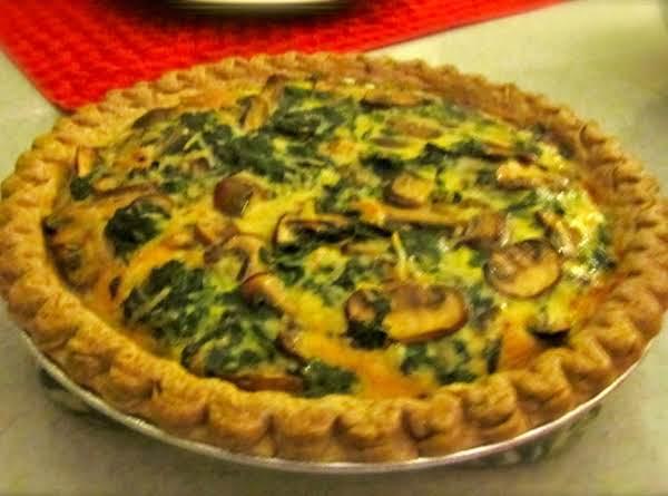 Mushrooms And Greens Tart Recipe