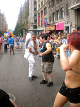 Photo: The Heritage of Pride gay pride march, Fifth Avenue between West 13 and West 14 streets, Greenwich Village, 26 June 2011. (Photograph by Elyaqim Mosheh Adam.)