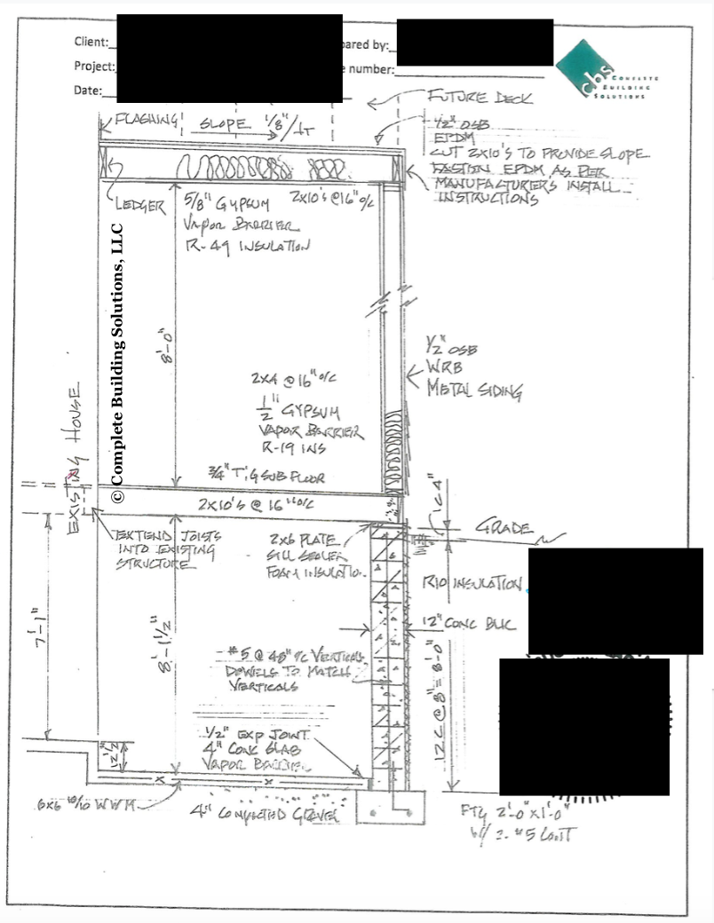 example of structural drawing