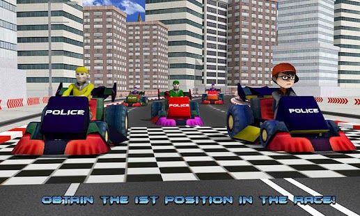 Kids Police Car Racing screenshot 3