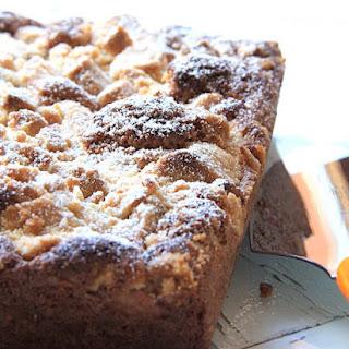 Sunday Fluffy Cake With Rhubarb Crisp.