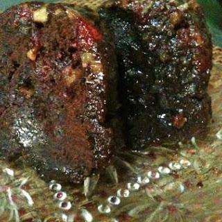 Dark Cherry Walnut Rum Cake.
