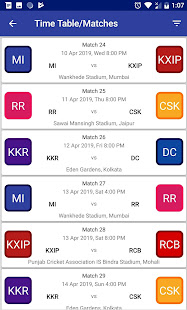Download Indian T20 League 2019 -Time Table Live Score For PC Windows and Mac apk screenshot 4