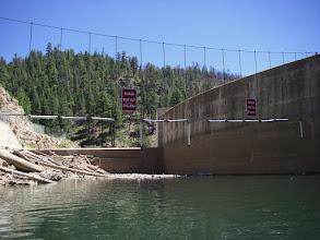 Photo: Blue Ridge Dam, water level 15 ft. below spillway.