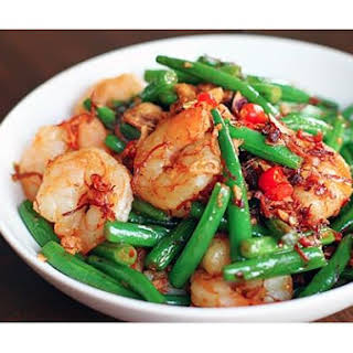 Seafood & French Beans With Xo Sauce.