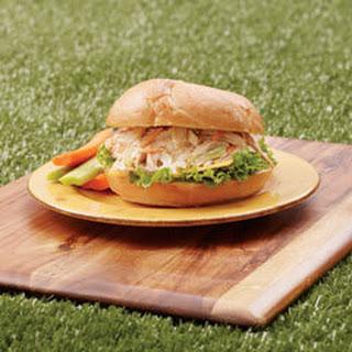 Rotisserie Pulled Chicken Salad Sandwiches.