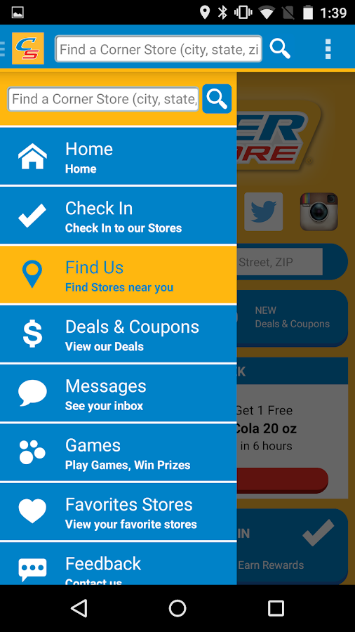 Corner Store Finder- screenshot